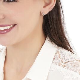 Boucles D'oreilles Puces Or Rose Morganite Et Diamant - Clous d'oreilles Femme | Histoire d'Or
