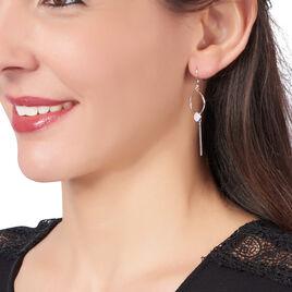 Boucles D'oreilles Pendantes Simine Argent Blanc Oxyde De Zirconium - Boucles d'oreilles fantaisie Femme   Histoire d'Or