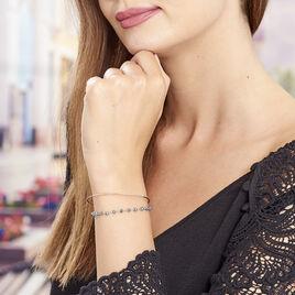 Bracelet Jonc Timoleone Argent Rose Pierre De Synthese - Bracelets fantaisie Femme | Histoire d'Or