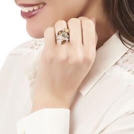 Bague Madyna Argent Blanc Ambre - Bagues Plume Femme | Histoire d'Or