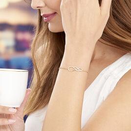 Bracelet Rajah Plaque Or Jaune Oxyde De Zirconium - Bracelets fantaisie Femme | Histoire d'Or