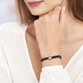 Bracelet Reba Or Blanc Perle De Culture De Tahiti - Bracelets cordon Femme | Histoire d'Or