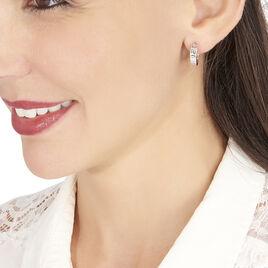 Créoles Ugenie Grec Or Blanc - Boucles d'oreilles créoles Femme | Histoire d'Or