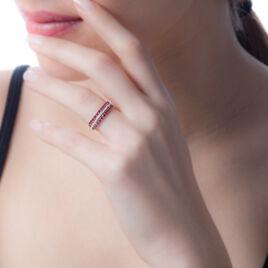 Bague Marie-berenice Or Blanc Diamant Et Rubis - Bagues avec pierre Femme | Histoire d'Or