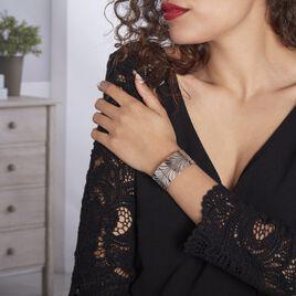 Bracelet Jonc Wilson Acier Blanc - Bracelets Plume Femme | Histoire d'Or