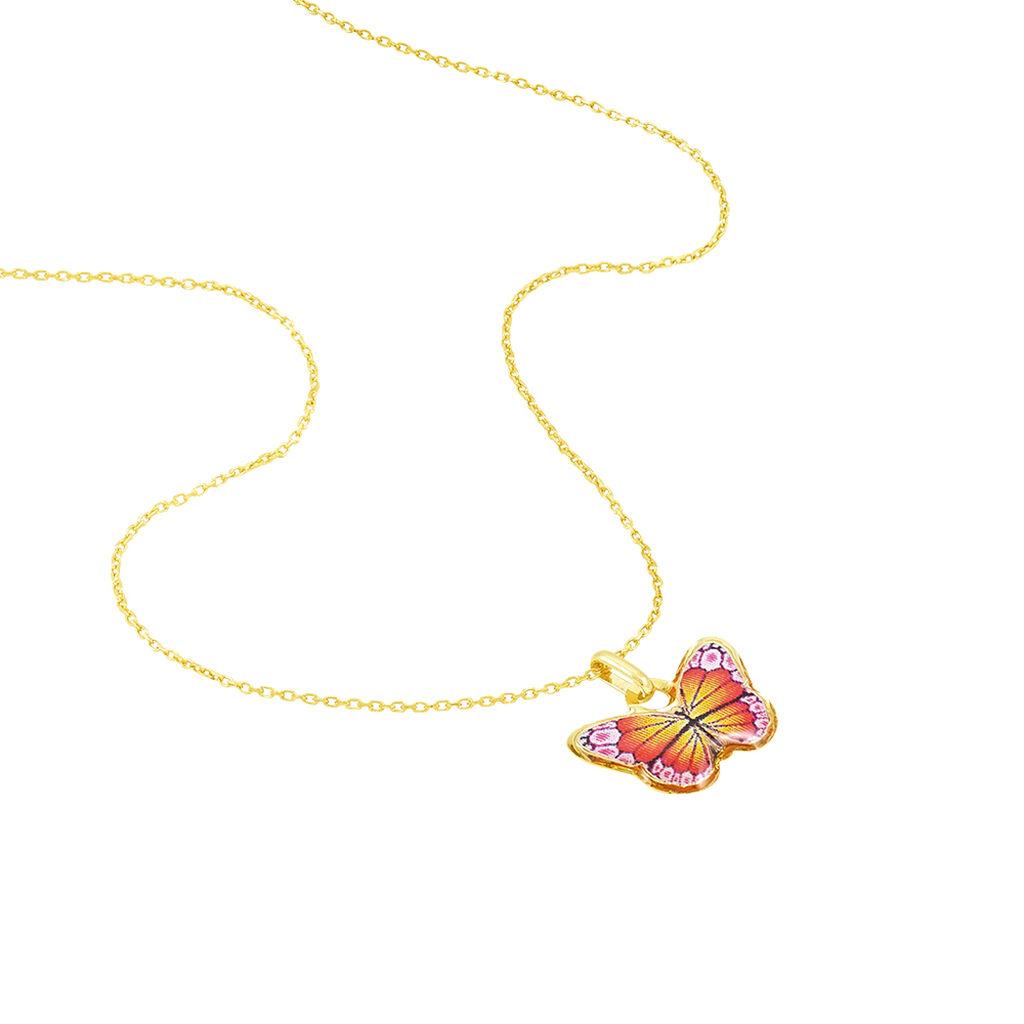 Collier Sulivia Papillon Or Jaune - Colliers Baptême Enfant | Histoire d'Or