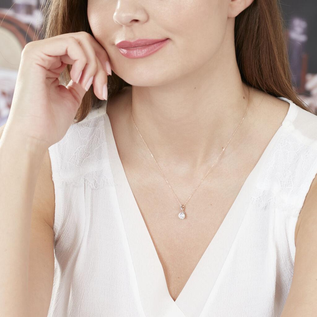 Collier Micheline Or Bicolore Oxyde De Zirconium - Bijoux Femme | Histoire d'Or