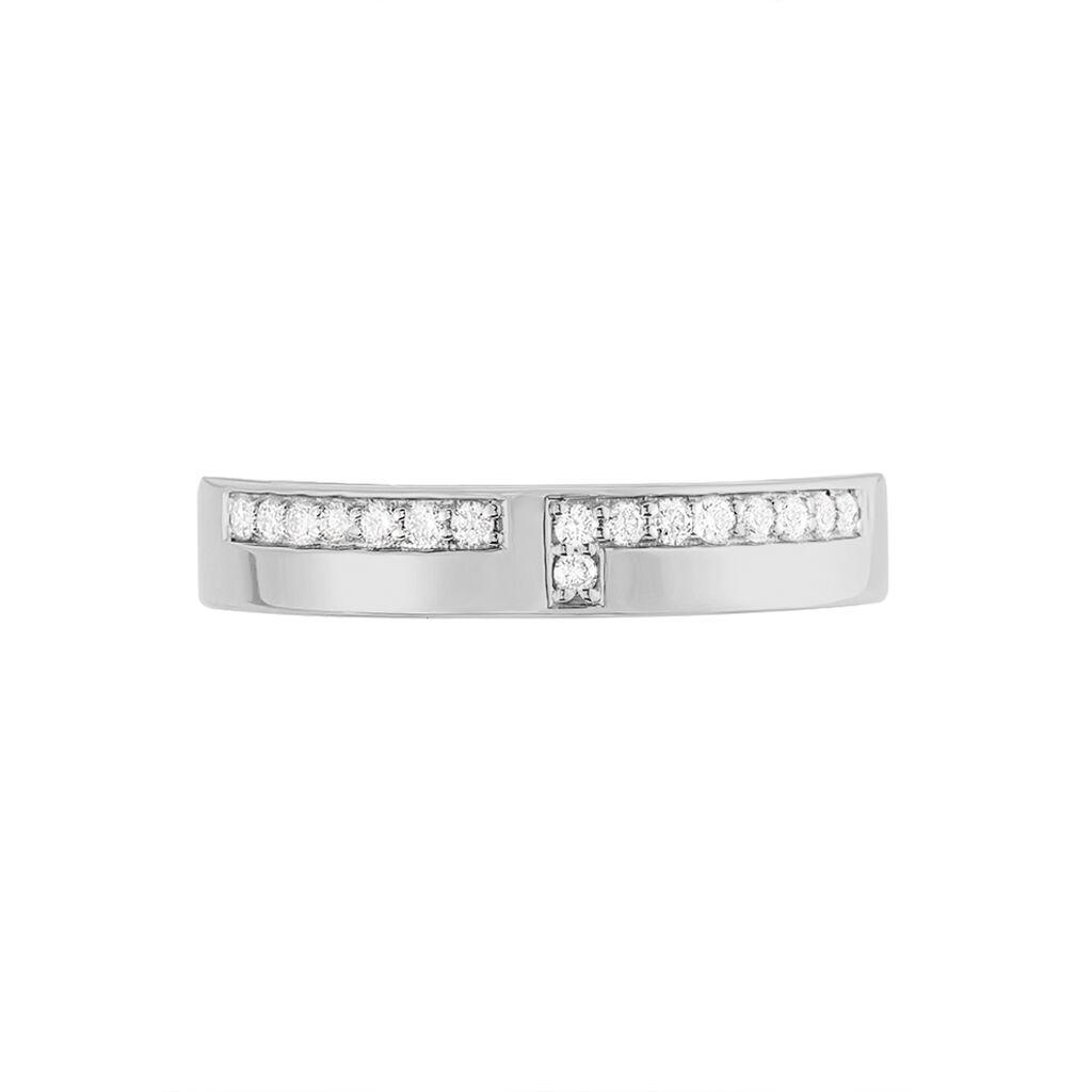 Alliance Boree Or Blanc Diamant - Alliances Femme | Histoire d'Or