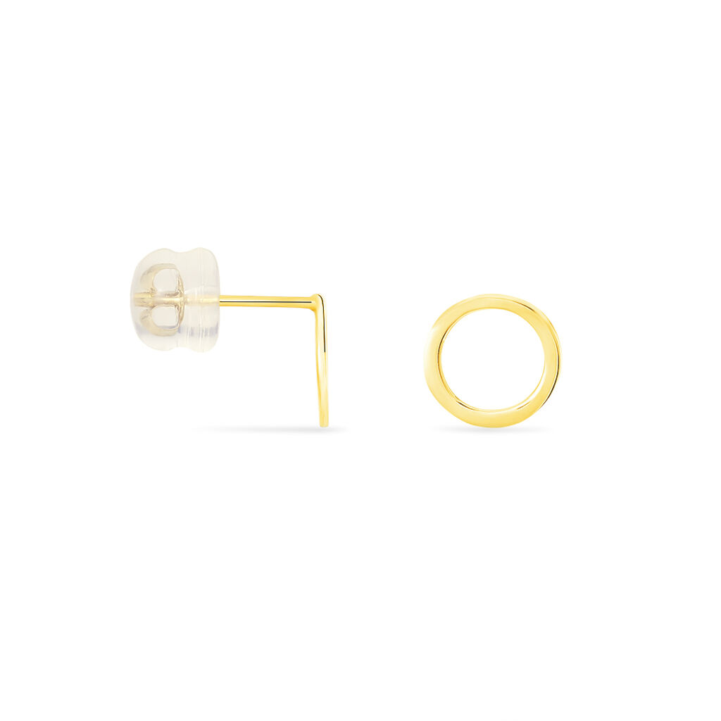 Boucles D'oreilles Puces Berangere Cercle Or Jaune - Clous d'oreilles Femme | Histoire d'Or