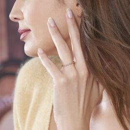 Bague Or Rose Gouttes Effet Perle Oxydes - Bagues avec pierre Femme | Histoire d'Or