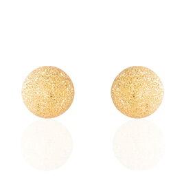 Boucles D'oreilles Puces Martina Argent Jaune - Boucles d'oreilles fantaisie Femme | Histoire d'Or