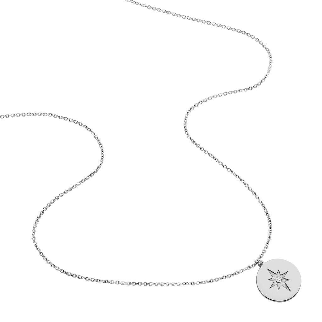 Collier Beyda Argent Blanc - Colliers Etoile Femme | Histoire d'Or