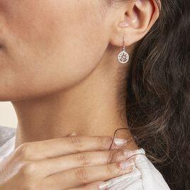 Boucles D'oreilles Pendantes Chimere Argent Blanc Oxyde De Zirconium - Boucles d'Oreilles Arbre de vie Femme | Histoire d'Or
