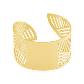 Bracelet Manchette Acier Jaune - Bracelets fantaisie Femme   Histoire d'Or