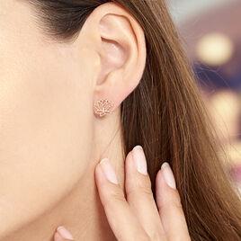 Boucles D'oreilles Puces Rosita Argent Rose - Boucles d'oreilles fantaisie Femme   Histoire d'Or