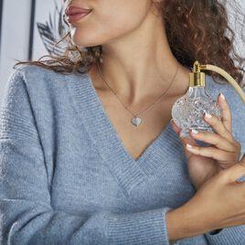 Collier Klemens Argent Rhodié Oxydes De Zirconium - Colliers Coeur Femme   Histoire d'Or