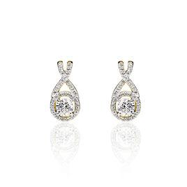 Boucles D'oreilles Pendantes Or Jaune Oxyde De Zirconium - Boucles d'oreilles pendantes Femme | Histoire d'Or