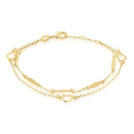 Bracelet Plaque Or Leore - Bracelets Coeur Femme | Histoire d'Or