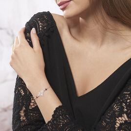 Bracelet Amore Argent Blanc Pierre De Synthese - Bracelets Coeur Femme   Histoire d'Or
