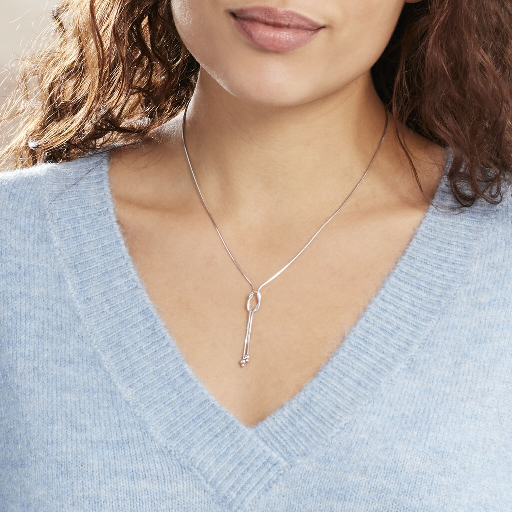 Collier Suzelle Argent Blanc - Colliers fantaisie Femme | Histoire d'Or