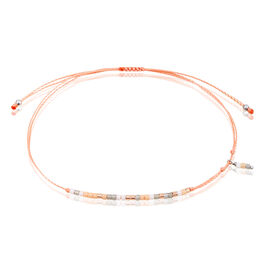 Bracelet Argent Rose Perles Cordon - Bracelets cordon Femme | Histoire d'Or