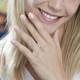 Bague Or Blanc Abbey Feuille Diamants - Bagues Plume Femme | Histoire d'Or