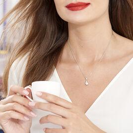 Collier Mellie Argent Blanc Perle De Culture Et Oxyde De Zirconium - Colliers fantaisie Femme   Histoire d'Or