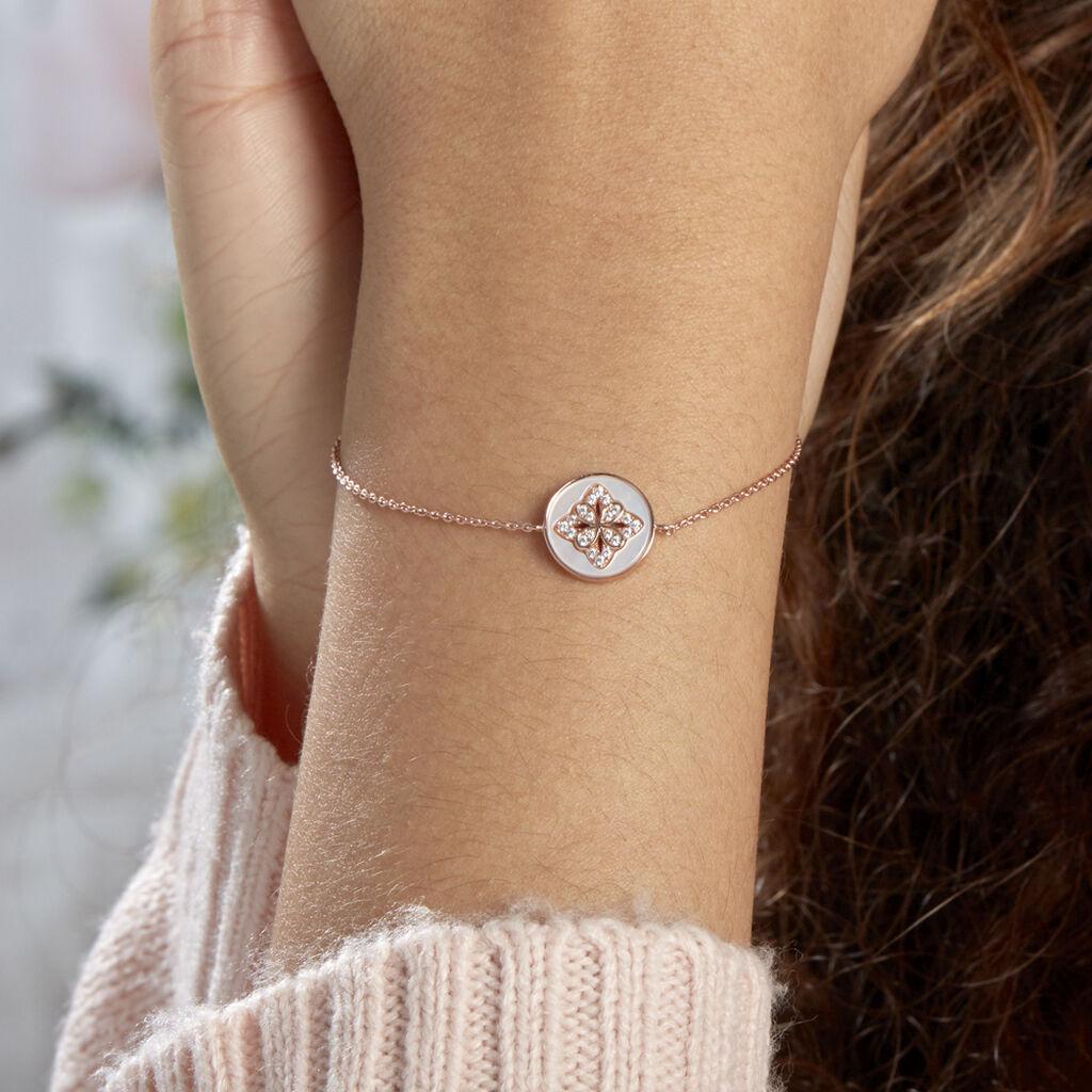 Bracelet Alexine Argent Rose Oxyde De Zirconium - Bijoux Etoile Femme | Histoire d'Or