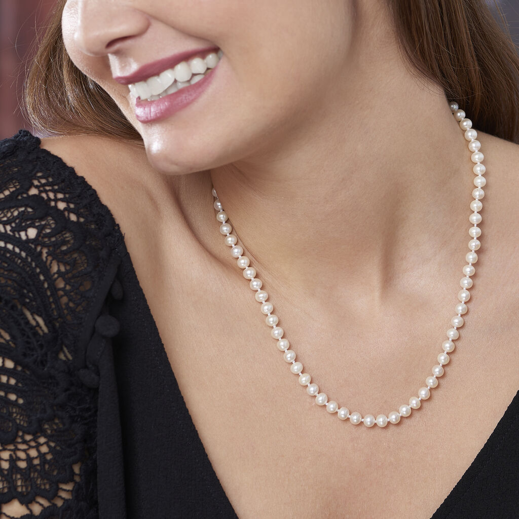 Collier Kanwal Or Jaune Perle De Culture - Sautoirs Femme | Histoire d'Or