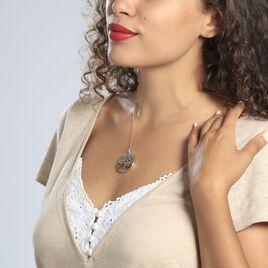 Collier Aleana Argent Blanc Ambre - Colliers Arbre de vie Femme | Histoire d'Or
