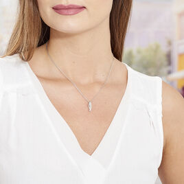 Collier Ange-line Argent Blanc Oxyde De Zirconium - Colliers fantaisie Femme | Histoire d'Or