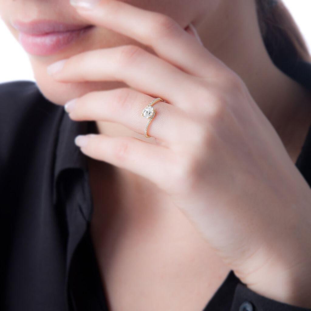 Bague Loriane Or Blanc Tourmaline Et Diamant - Bagues avec pierre Femme   Histoire d'Or