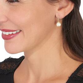 Boucles D'oreilles Pendantes Arina Or Jaune Oxyde De Zirconium - Boucles d'oreilles pendantes Femme   Histoire d'Or