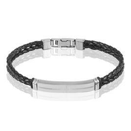 Bracelet Gaetan Acier Blanc - Bracelets fantaisie Homme | Histoire d'Or