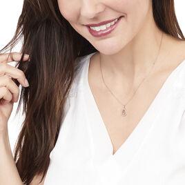 Collier Laurina Or Rose Morganite Et Diamant - Bijoux Femme | Histoire d'Or