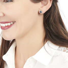 Boucles D'oreilles Puces Chiara Or Blanc - Clous d'oreilles Femme | Histoire d'Or