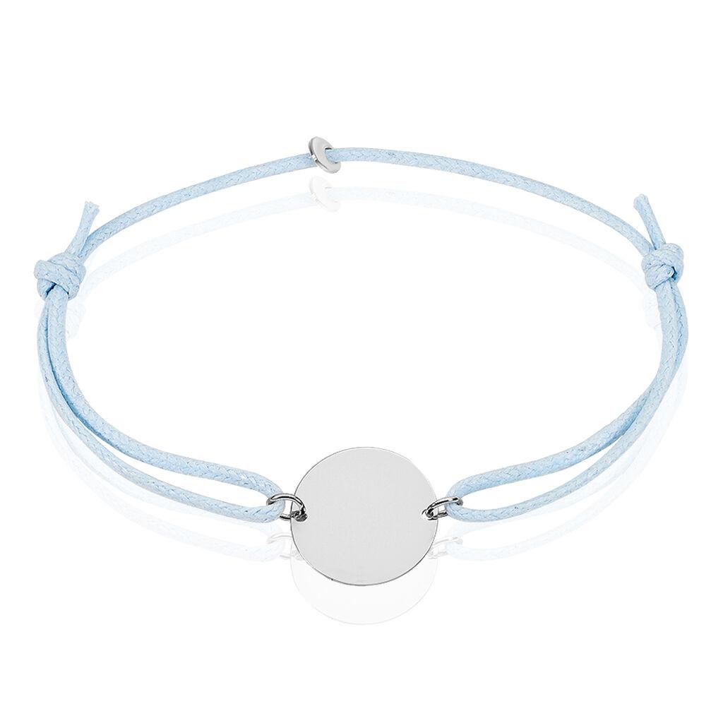 Bracelet Helenia Pastille Gravable Or Blanc - Bracelets Naissance Enfant   Histoire d'Or