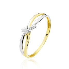 Bague Soukayna Or Bicolore Diamant - Bagues avec pierre Femme | Histoire d'Or