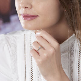 Bague Serafine Or Jaune Oxyde De Zirconium - Bagues Coeur Femme | Histoire d'Or