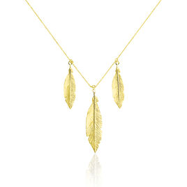Collier Or Jaune Soline  - Colliers Plume Femme | Histoire d'Or