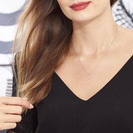Collier Lorena Argent Blanc Oxyde De Zirconium - Colliers fantaisie Femme | Histoire d'Or