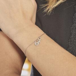 Bracelet Argent Blanc Kenocha - Bracelets Coeur Femme | Histoire d'Or