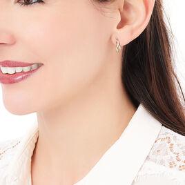 Boucles D'oreilles Pendantes Lhya Plaque Or Jaune Oxyde De Zirconium - Boucles d'oreilles fantaisie Femme | Histoire d'Or