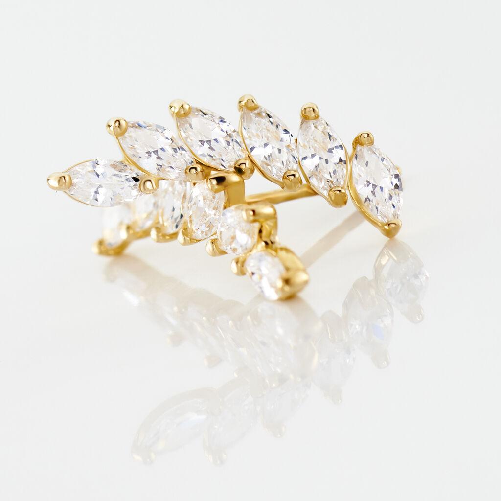 Bijoux D'oreilles Resa Or Jaune Oxyde De Zirconium - Ear cuffs Femme | Histoire d'Or