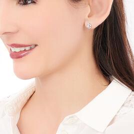 Boucles D'oreilles Argent Rhodie Oxyde - Boucles d'oreilles fantaisie Femme | Histoire d'Or