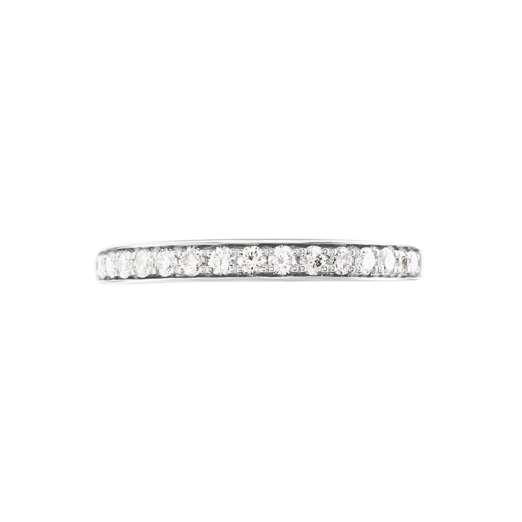 Demi Alliance Juliette Platine Blanc Diamant - Alliances Femme | Histoire d'Or