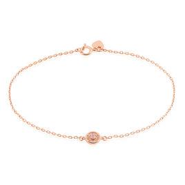 Bracelet Auxana Argent Rose Oxyde De Zirconium - Bracelets fantaisie Femme | Histoire d'Or