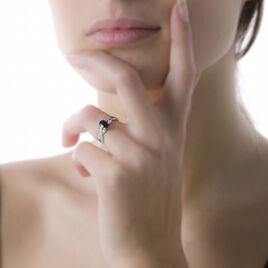 Bague Or Blanc Candice Quartz Fume - Bagues avec pierre Femme | Histoire d'Or