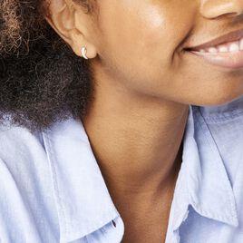 Créoles Izefia Rondes Or Jaune Oxyde De Zirconium - Boucles d'oreilles créoles Femme | Histoire d'Or
