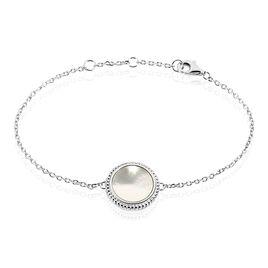 Bracelet Laetizia Celine Argent Blanc Nacre - Bracelets fantaisie Femme | Histoire d'Or